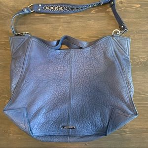 Vince Camuto Brett Hobo Cobalt Blue Leather Bag